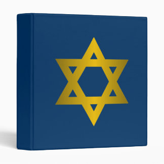 Star of David 3 Ring Binder