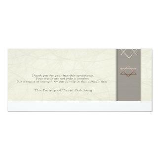 Star of David 3 - Sympathy Thank You - Flat Cards Invitations