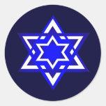 Star of David 3d Round Stickers