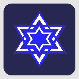 Star of David 3d Square Sticker