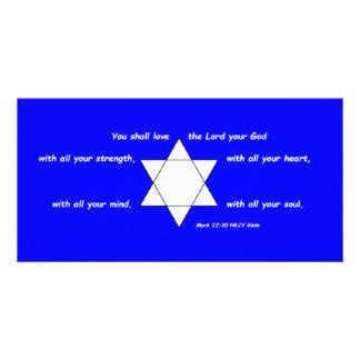 Star of David 8 x 4 Photo Card