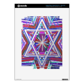 Star of David a blend of colors Skins For iPad 3