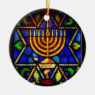 STAR OF DAVID AND MENORAH ORNAMENT