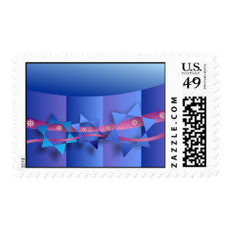 Star of David and Ribbon Postage Stamp
