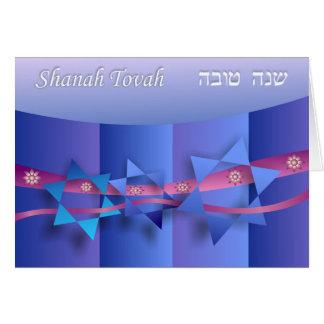 Star of David and Ribbons Rosh Hashanah Card