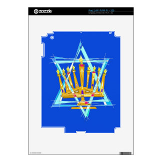 Star of David and the Menorah iPad 2 Decals