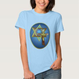 Star Of David and Triple Cross Oval Shirt