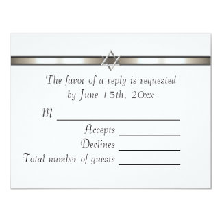 Star of David Any Color RSVP 4.25x5.5 Paper Invitation Card