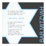 Star of David Bar Mitzvah - Blue & Grey Card
