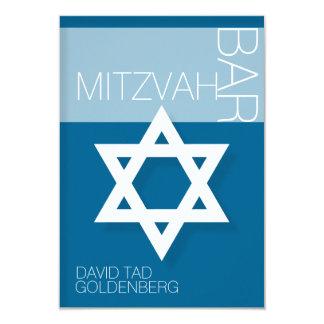 Star of David  Bar Mitzvah Personalized Invitation