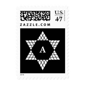 Star of David Bar Mitzvah Postage Stamp