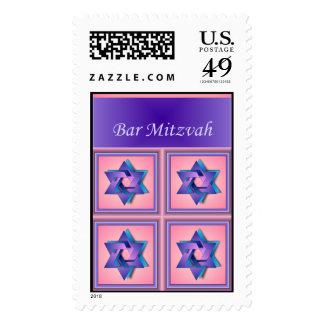 Star of David Bar Mitzvah Stamp
