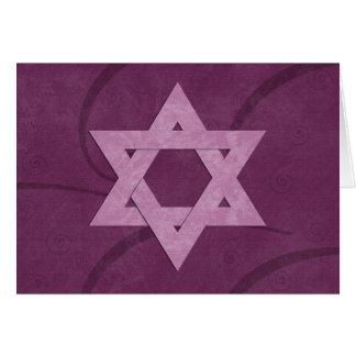 Star of David Bat Mitzvah card