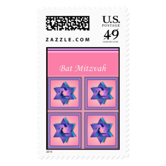 Star of David Bat Mitzvah Postage Stamp