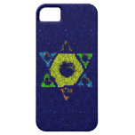 Star of David blue glitter iphone 5 barely case iPhone 5 Cases