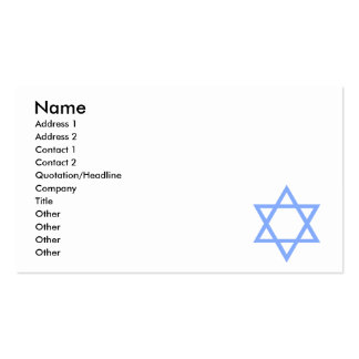 Star of David Business Card