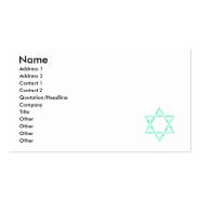 Star of David Business Card Templates