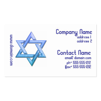 Star of David Business Cards