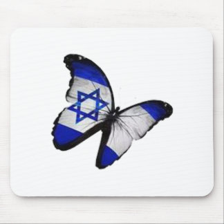 Star of David Butterfly Mouse Pad