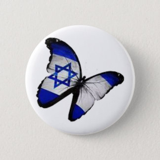 Star of David Butterfly Pinback Button