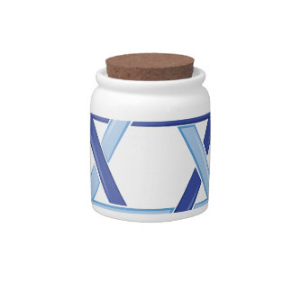 Star Of David Candy Jar