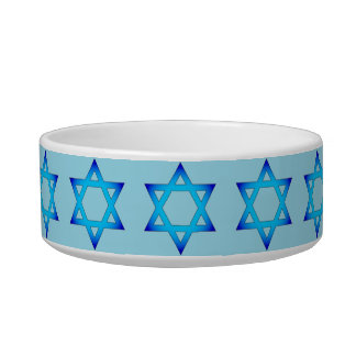 Star of David Cat bowl