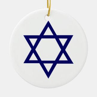 Star of David Ceramic Ornament