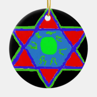 Star of David Ceramic Ornament
