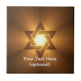 Star of David Ceramic Tile