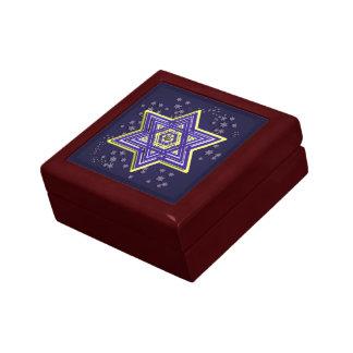 Star of David Ceramic Tile Trinket Box