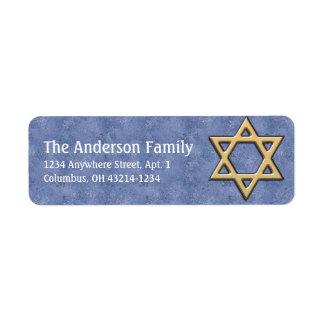 Star of David Chanukah Address Labels d15