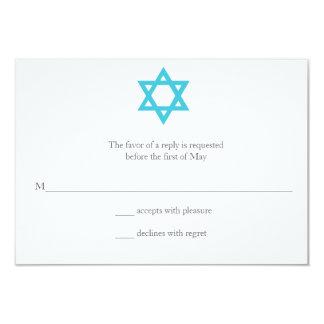 Star of David Chevron Bat Mitzvah RSVP Card
