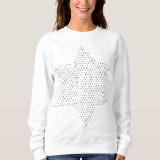 Star of David constructed with Hebrew Letters Sweatshirt