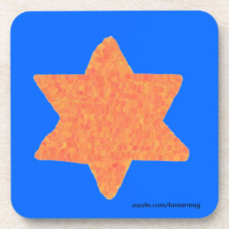 Star of David Cork Coasters set of six