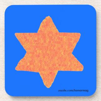 Star of David Cork Coasters set of six