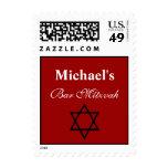 Star of David Custom Bar Mitzvah Stamps