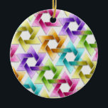 """Star of David Damask Hanukkah Ornament<br><div class=""""desc"""">Holiday Decor and Gifts by Tailored Type. I am more than happy to help you with your Zazzle experience. For example, do you like the design but need a different color? Need help with the Zazzle editor? No problem! Email me: carrie at tailoredtype dot com You can also use the...</div>"""