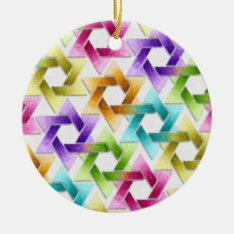 Star Of David Damask Hanukkah Ornament at Zazzle