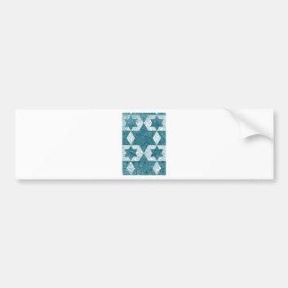 Star of David design made in Jerusalem Bumper Sticker