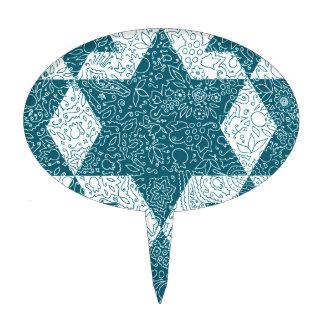 Star of David design made in Jerusalem Cake Topper
