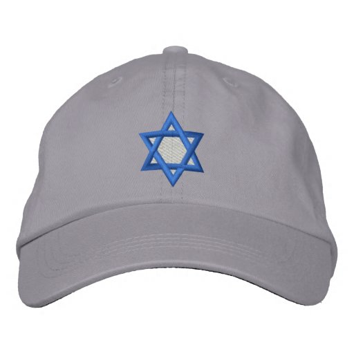 Star Of David Embroidered Hats