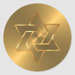 Star of David Envelope Seal Round Sticker