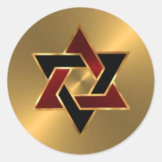 Star of David Envelope Seal Sticker
