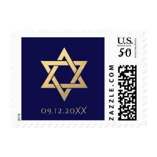 Star of David Faux Gold Bar Mitzvah Postage