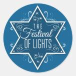Star of David Festival of Lights Hanukkah Sticker