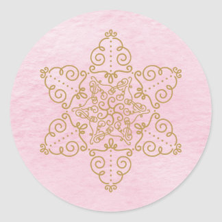 Star of David Filigree on Pink Wash Sticker