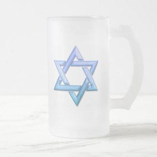 Star of David Frosted Beer Mug