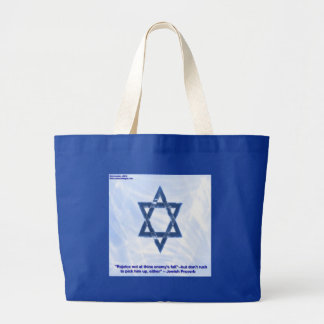 Star Of David & Funny Jewish Proverb Gifts & Cards Large Tote Bag
