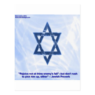 Star Of David & Funny Jewish Proverb Gifts & Cards Postcard