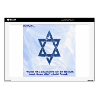 Star Of David & Funny Jewish Proverb Gifts & Cards Laptop Skins